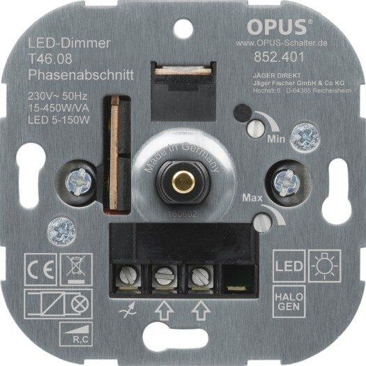 LED-Dimmer, 5-150W, UP Phas.anschn.R, C, 15-450W