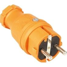 SIROX Profi-Vollgummi-Stecker IP44, orange