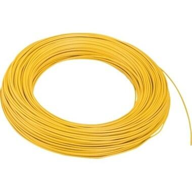 Aderltg., H05V-K 0,75, gelb flexibel, 100m Ring