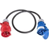Adapterleitung 1m H07RN-F 3G2,5qmm schwarz