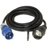 Adapterleitung 230V, 5m H07RN-F 3G2,5qmm schwarz, IP44