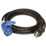 Adapterleitung 5m H07RN-F 3G2,5 qmm schwarz