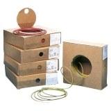 Aderlt., H05V-K 0,5, dkl.bl. flexibel,100m Ring, RAL 5010