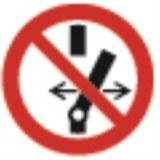 Aufkleber, Ø100mm, Symbol Nicht Schalten
