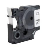 Beschriftungsband Polyester PLP-WHT-12,schwarz- weiß