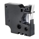 Beschriftungsband Polyester PLP-WHT-9,schwarz- weiß
