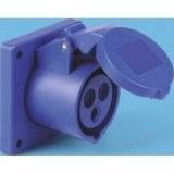 CEE-ABD 16A, 3p.6h, 230V, IP44 blau, ger,SIROX,F70x70,LM56x56