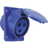 CEE-ABD 16A, 3p.6h, 230V, IP44 blau,schrg20°,FL92x100,LM77x85