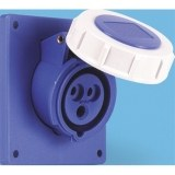 CEE-ABD 16A, 3p.6h, 230V, IP67 blau,schrg20°,FL92x100,LM77x85