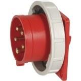 CEE-AGSt. 125A,5p.6h,400V,IP67 rot, gerade, SIROX