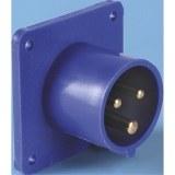 CEE-AGSt. 16A,3p.6h,230V, IP44 blau,ger,FL70x70,LM56x56