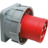 CEE-AGSt. 63A,5p.6h,400V, IP67 rot,gerade,SIROX