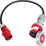CEE-Adapter 32A auf 63A 1m H07RN-F 5G6,0 qmm schwarz