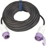 CEE-Verl. H07RN-F 2x2,5, 20m 16A,24V, 2p., violett, schwarz