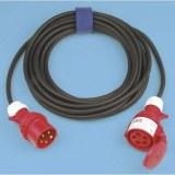 CEE-Verl. H07RN-F 3G2,5, 10m 16A, 230V, 3-polig, 6h,schwarz