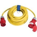 CEE-Verl. H07RN-F 5G2,5, 10m 16A, 400V, 5-polig, 6h, gelb