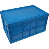 Deckel für Faltboxen blau 60 x 40 cm, PP, geschlossen