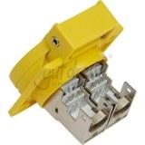 Einbau-Datendose, CAT.6, IP55 2xRJ45, gelb, mit Klappdeckel