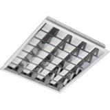 Einlege-u.Einbauleuchte 4x18W Aluminium-matt-Raster, IP20