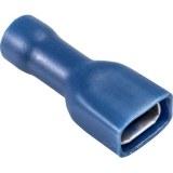Flachsteckhülse 6,3 x 0,8mm vollisoliert blau 1,5-2,5