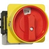 Haupt-Not-Aus-Schalter rt/gb 32A trennend, 3-polig, für Hut