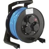 JumboXS-Kabeltrommel 25m H07BQ-F 3G1,5 qmm blau