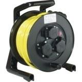 JumboXS-Kabeltrommel 25m H07BQ-F 3G1,5 qmm gelb