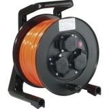 JumboXS-Kabeltrommel 25m H07BQ-F 3G1,5 qmm l-orange