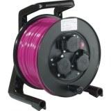 JumboXS-Kabeltrommel 25m H07BQ-F 3G1,5 qmm pink