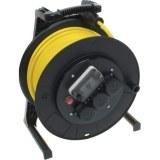 Jumbo-Kabeltrommel mit Zähler 40m H07RN-F 3G1,5 qmm gelb