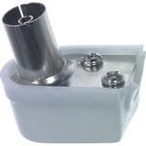 Koax-Winkelkupplung,75 Ohm Durchm: 9,5mm, schraubbar