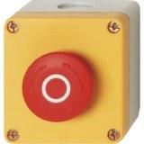 NOT-AUS-Taster im Gehäuse IP65 mit 40mm Pilztaste, 600V/10A