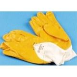 Nitril-Baumwollhandschuhe,gelb Grösse 10