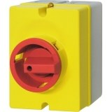 Not-Aus-Schalter, AP, rot/gelb 20A trennend Gehäuse grau/gelb