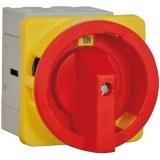 Not-Aus-Schalter rot/gelb 25A trennend, 3-polig, Fronteinbau