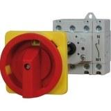 Not-Aus-Schalter rot/gelb 63A trennend, 4-polig, für Hut-
