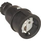 SIROX-Profi-Gummikupplung IP20, schwarz, Polyamideinsatz