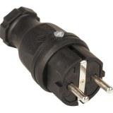 SIROX-Profi-Vollgummi-Stecker IP44, schwarz