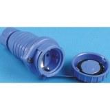 Schutzkontakt-Kupplung IP68 druckwasserdicht, blau