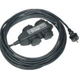 Steckdosenblock, 4-fach IP44, 230V, 16A, 10m Anschluß-