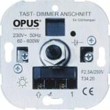 Tast-Glühlampen-Dimmer 230V 60-600W, 50Hz, Schraubklemmen