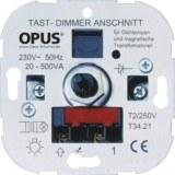 Tast-NV-Halogenlampen-Dimmer 20-500VA,230V,50Hz, Schraubkl.