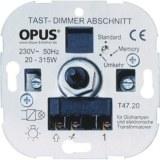 Tast-Phasenabschnitt-Dimmer 20-315VA,230V,50Hz, Schraubkl.