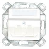 Tragplatte mit Aufnahme für 3 x RJ Modul, polarweiß
