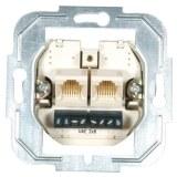 UP-Modular-Doppel-Anschlußdose 2x8/8-polig, parallel