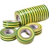 VDE-PVC-Isolierband, grün-gelb Stärke=0,15mm, Breite=15mm,