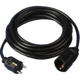 Verl.H05VV-F 3G1,5, 3m sw H05VV-F 3G1,5 qmm schwarz