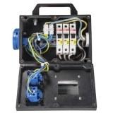 Vollgummi-Adapter 32A-Schuko abgesichert 3LS 16A 1-pol C